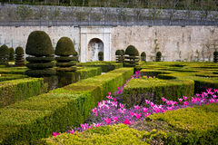 Gardens Chateau de Villandry, France Royalty Free Stock Photography
