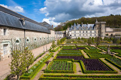 Gardens Chateau de Villandry, France Royalty Free Stock Image