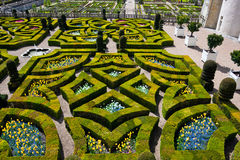 Gardens of the Chateau de Villandry, France Stock Photography