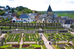 Gardens of the Chateau de Villandry, France Stock Images