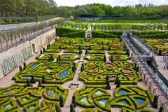 Gardens of the Chateau de Villandry, France Stock Image