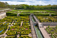 Gardens of the Chateau de Villandry, France Royalty Free Stock Photography