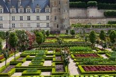 Gardens and Chateau de Villandry Stock Photo