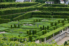 Gardens and Chateau de Villandry Royalty Free Stock Photo