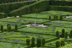 Gardens and Chateau de Villandry Royalty Free Stock Image