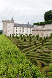 Gardens and Chateau de Villandry Royalty Free Stock Photo