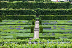 Gardens and Chateau de Villandry Stock Photo