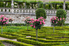 Gardens and Chateau de Villandry Stock Photos