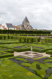 Gardens and Chateau de Villandry Stock Photography