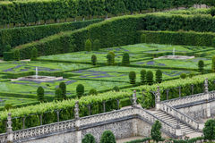 Gardens and Chateau de Villandry Royalty Free Stock Photos