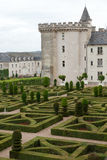 Gardens and Chateau de Villandry Stock Image