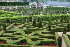 Gardens and Chateau de Villandry Stock Images
