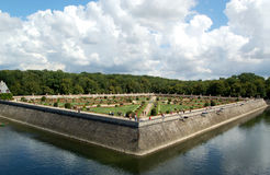 Gardens at Chenonceau, France Royalty Free Stock Photo