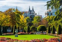 Gardens in the city of Madrid's Retiro park. Royalty Free Stock Photos