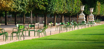 Gardens des Tuileries in Paris Royalty Free Stock Photography