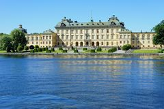Gardens of Drottningholm Palace in Sweden stock photos