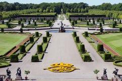 Gardens of Drottningholm Palace in Sweden stock image
