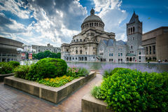 Gardens and the First Church of Christ, Scientist, in Boston, Ma Stock Image