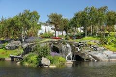 The gardens at Flor og Fjaere. Flor og Fjaere a beautiful summer garden on an island near Stavanger, Norway stock image
