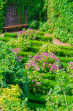 Gardens, flowers, flower beds, herbs Royalty Free Stock Photos