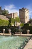 Gardens and fountains of the Alcazar de los Reyes Católicos Stock Photo