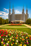 Gardens in front of the Washington DC Mormon Temple in Kensingto Royalty Free Stock Photography