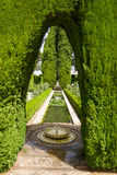 Gardens of the Generalife. 'Generalife' is translated as 'garden of the architect Stock Photography