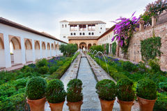 Gardens of the Generalife in Spain Royalty Free Stock Photography