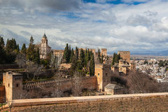 Gardens in Granada in winter Royalty Free Stock Photo