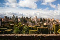 Gardens in Granada in winter Royalty Free Stock Photos