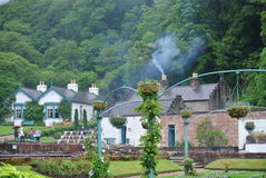 The gardens. On the grounds of an abbey in Ireland stock photography