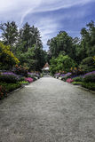 The gardens of the Hainpark in Bamberg Royalty Free Stock Photos