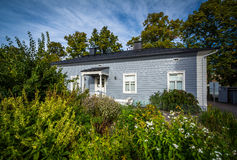 Gardens and house at the University of Helsinki Botanical Garden Royalty Free Stock Photography