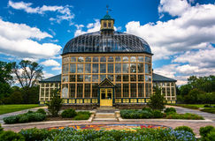 Gardens and the Howard Peters Rawlings Conservatory in Druid Hil Stock Photo