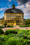 Gardens and the Howard Peters Rawlings Conservatory in Druid Hil Royalty Free Stock Photography