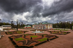 Gardens of Kadriorg Palace, Estonia royalty free stock images