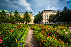 Gardens at Kungsträdgården, in Norrmalm, Stockholm, Sweden. Royalty Free Stock Photo