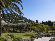 Gardens of La Certosa on the Island of Capri stock photography