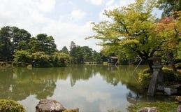Gardens with lake Stock Image