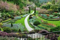 Gardens landscaping royalty free stock photos