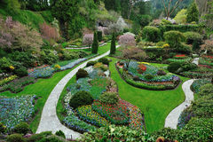 Gardens landscaping Royalty Free Stock Photography