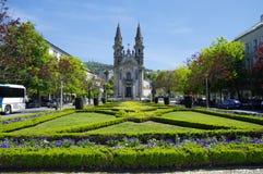 Gardens of Largo Republica do Brasil near Nossa Senhora Da Consolacao E Dos Santos Passos Royalty Free Stock Image