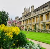 Gardens, Lawns and Historic Buildings of Magdalen College, Oxford royalty free stock image
