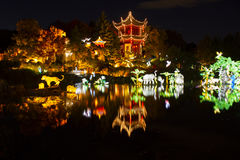 Gardens of Light-Chinese Garden Royalty Free Stock Photo