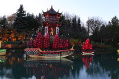 Gardens of Light-Chinese Garden Royalty Free Stock Image