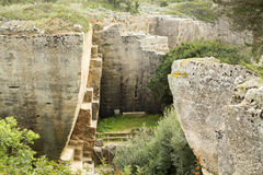 The gardens of Lithica, S'Hostal Quarries Royalty Free Stock Image