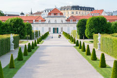 Gardens and Lower Belvedere Palace in Vienna, Austria Stock Images