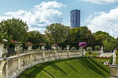Gardens of Luxembourg in Paris royalty free stock photo