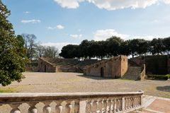 Gardens Medici Fortress. Photo of the interior of the Fortress in Siena Stock Image