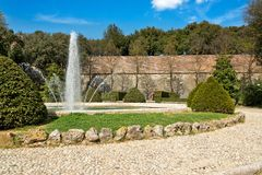Gardens Medici Fortress. Photo of the interior of the Fortress in Siena Royalty Free Stock Photography